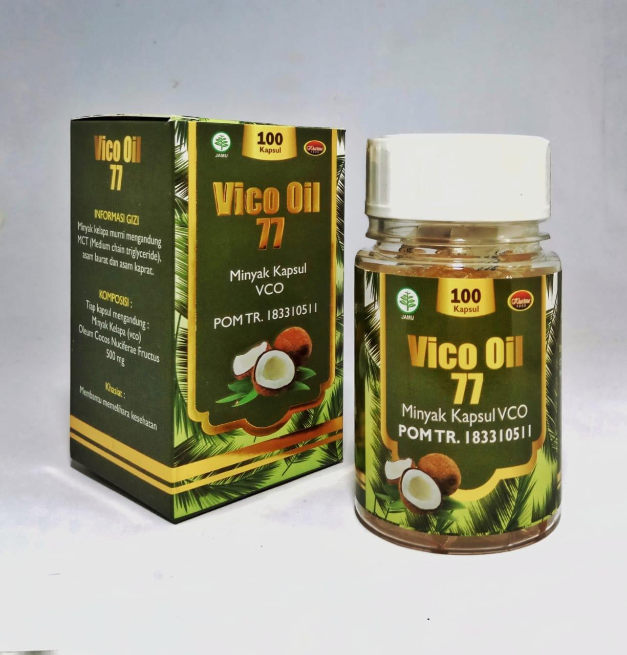 VICO OIL 77 VCO Virgin Coconut Oil Minyak Kelapa 100 Kapsul Kharisma