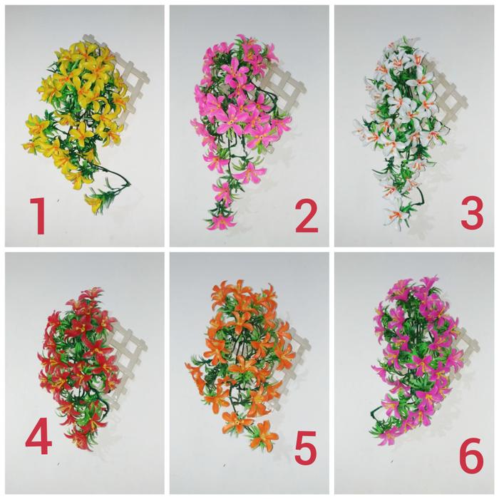 Bunga Hias Plastik Artificial Hiasan Dinding Tempel Dekorasi Tembok Rumah Bunga Dengan Pagar Lazada Indonesia