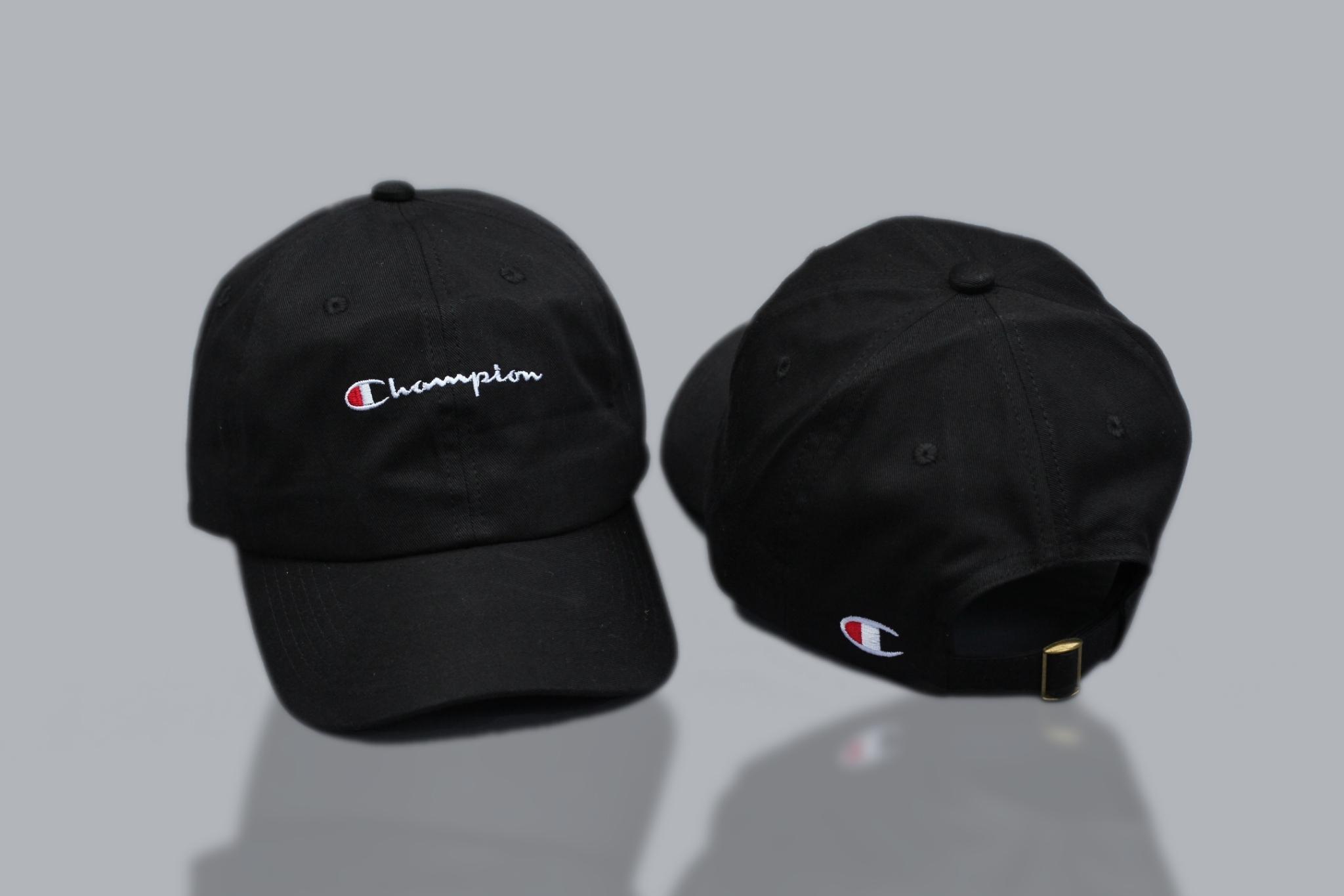 Topi Champion Script Baseball Cap Logo Basic Dadhat Full Tag