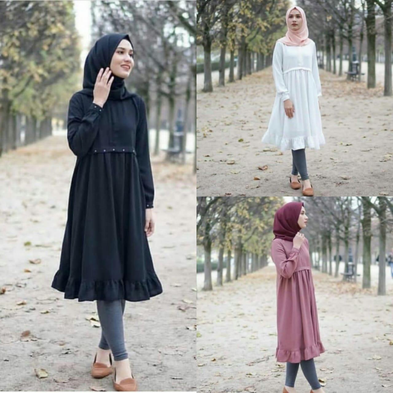Cuties Shop SFS Andika TunikMatt Twistcone,Size fit to L,apk mutiara