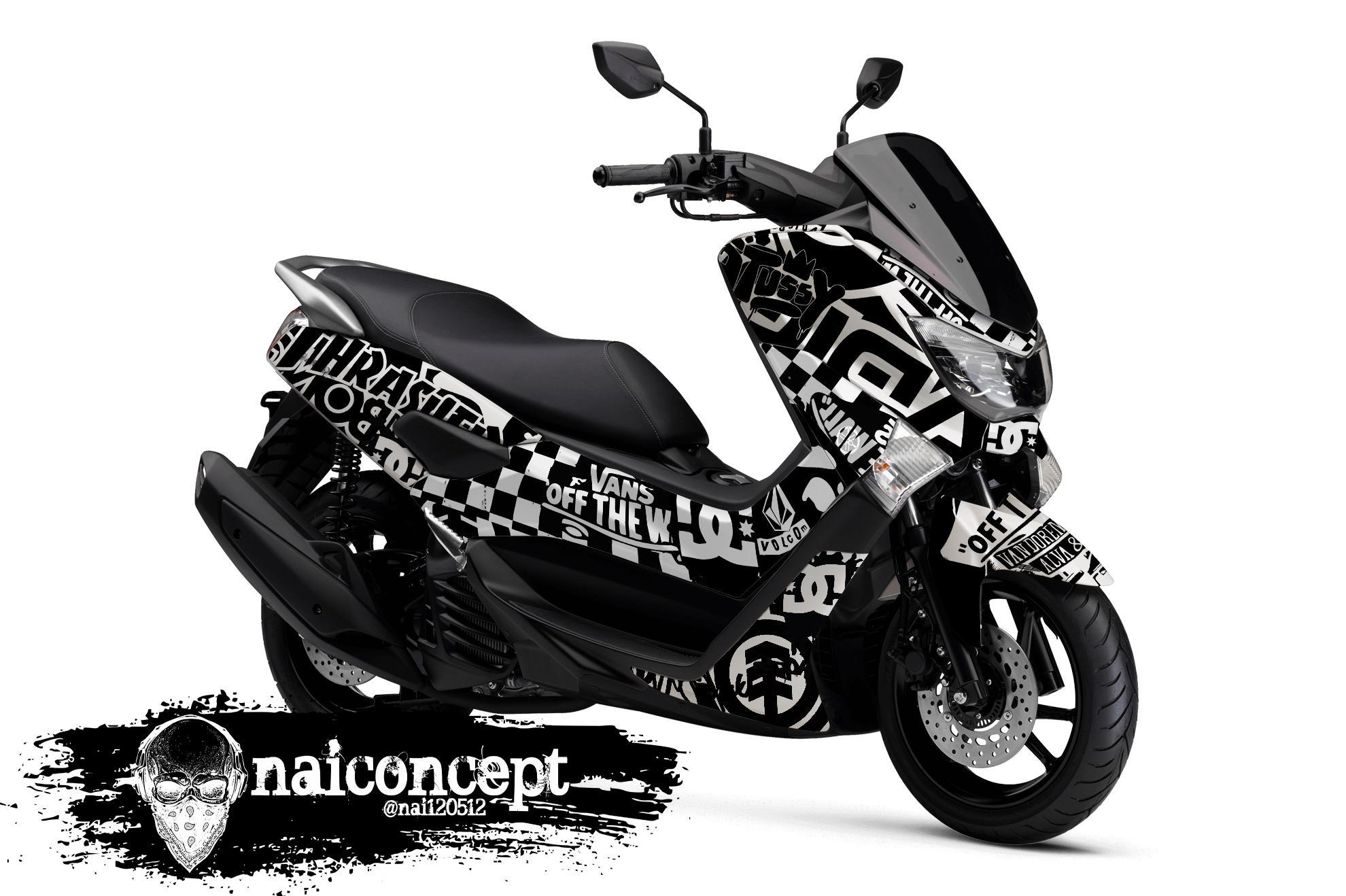 Striping decals motor nmax premium high quality full anti gores glossy nai27