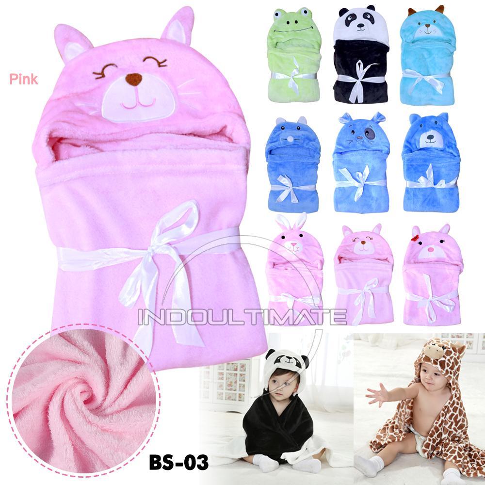 Selimut Bayi Tebal / Baby Blanket / Selimut Topi Bayi / Selimut Tidur Bayi / Selimut