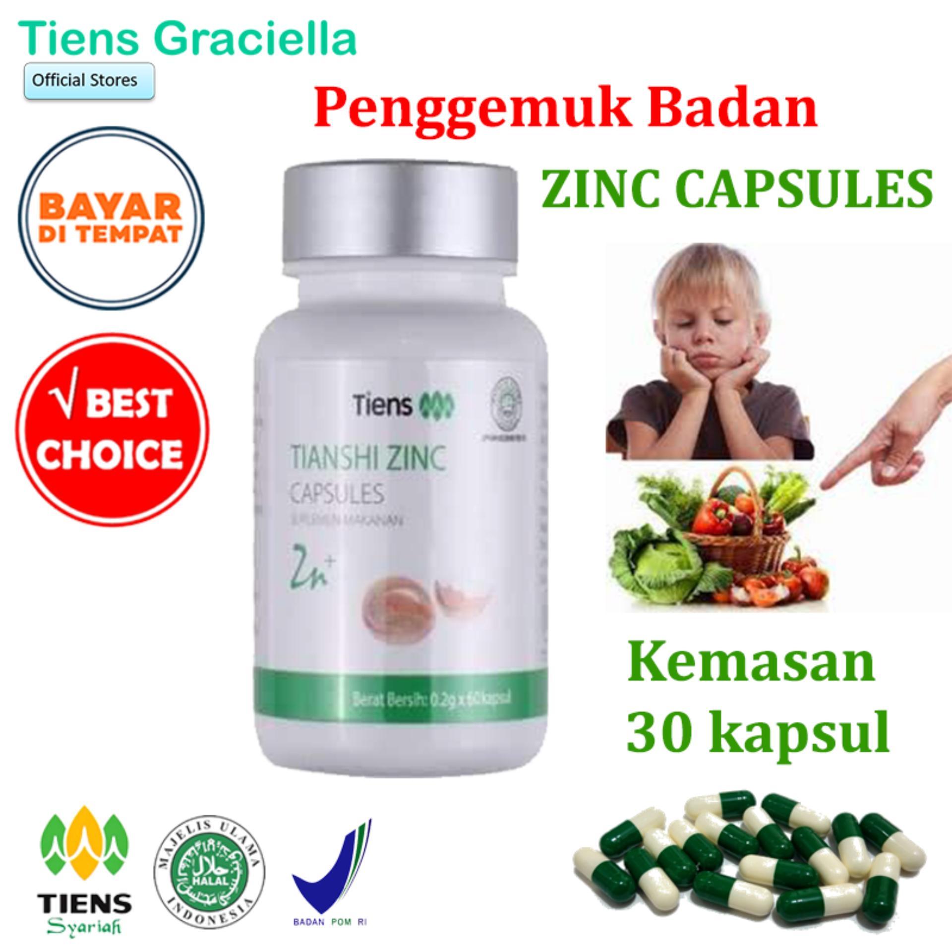 Tiens Zinc Penggemuk Badan Paket Promo Banting Harga 30 Kapsul + Gratis Kartu Member Tiens Graciella By Tiens Graciella.