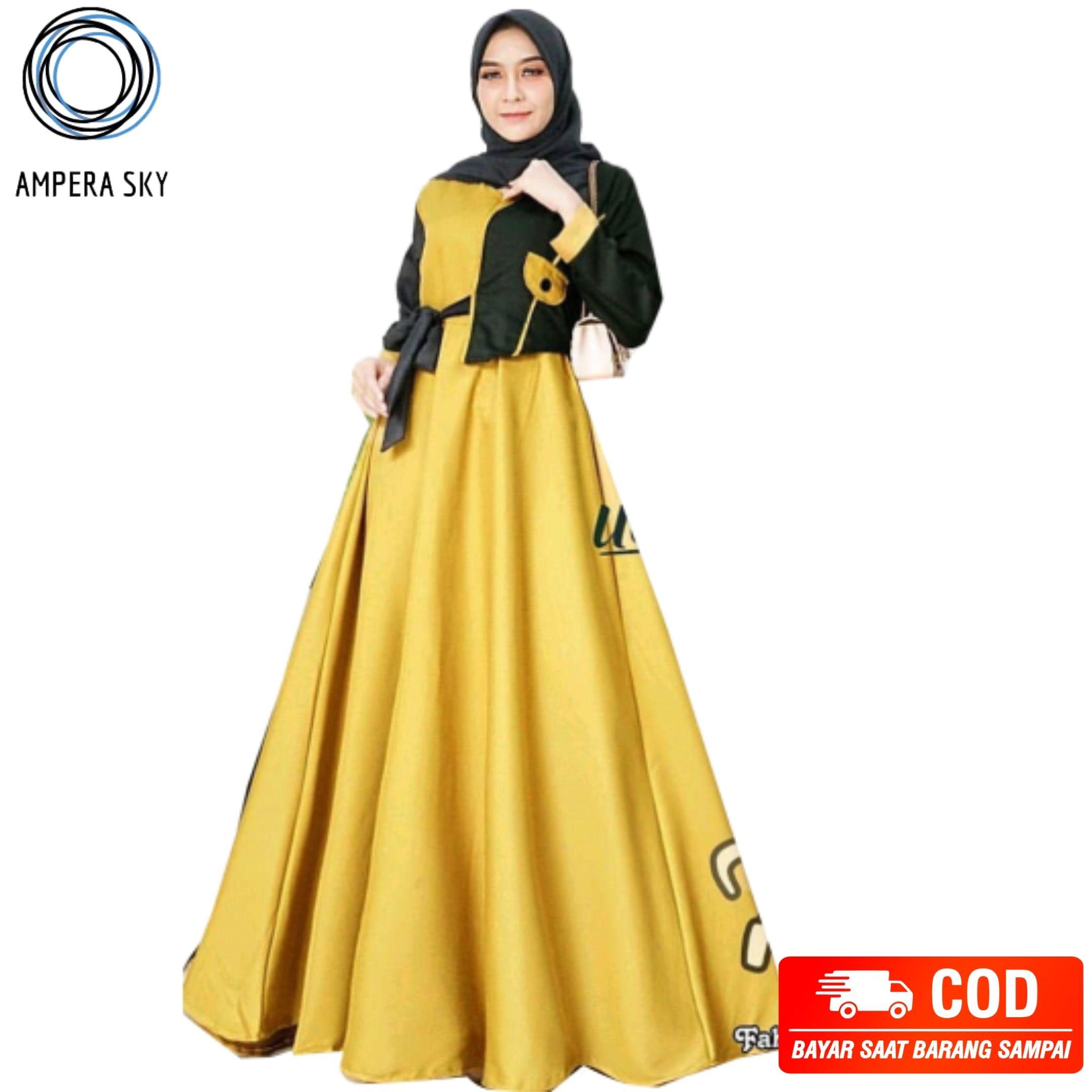 Gamis muslimah tamera dress / Baju gamis wanita terbaru 8 / Baju gamis  wanita simple elegan / Baju kondangan wanita / Gamis wanita dewasa / Gamis