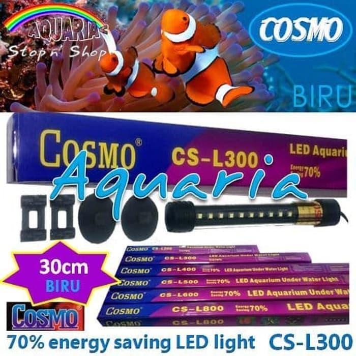 TERLARIS Cosmo CS-L300 Lampu LED 30cm Aquarium Underwater Light Warna Biru - fqHUwphV