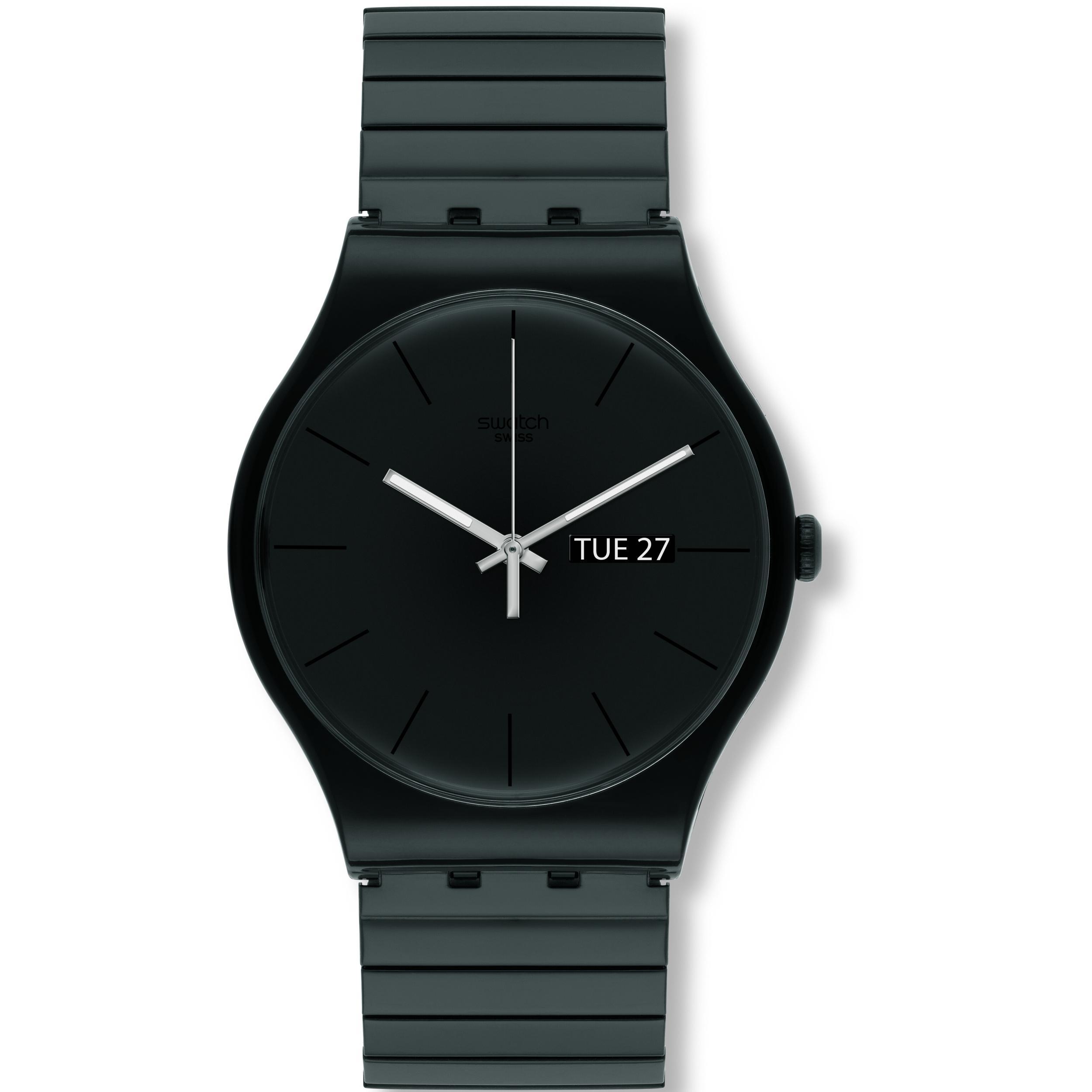 Swatch Jam Tangan Pria Biru Hitam Rubber Hitam Suts401 Sistem Blue ... 3767ffcf69