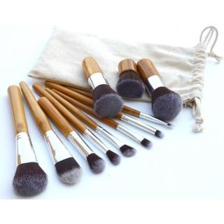 Kuas Make Up Cosmetic Make Up Brush 11 Set with Pouch thumbnail