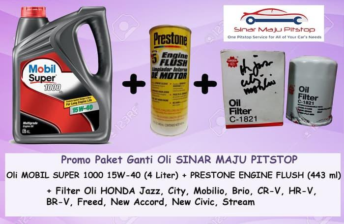 Paket Oli ALL NEW HONDA JAZZ RS - MOBIL SUPER 15W-40 & FLUSH & FILTER