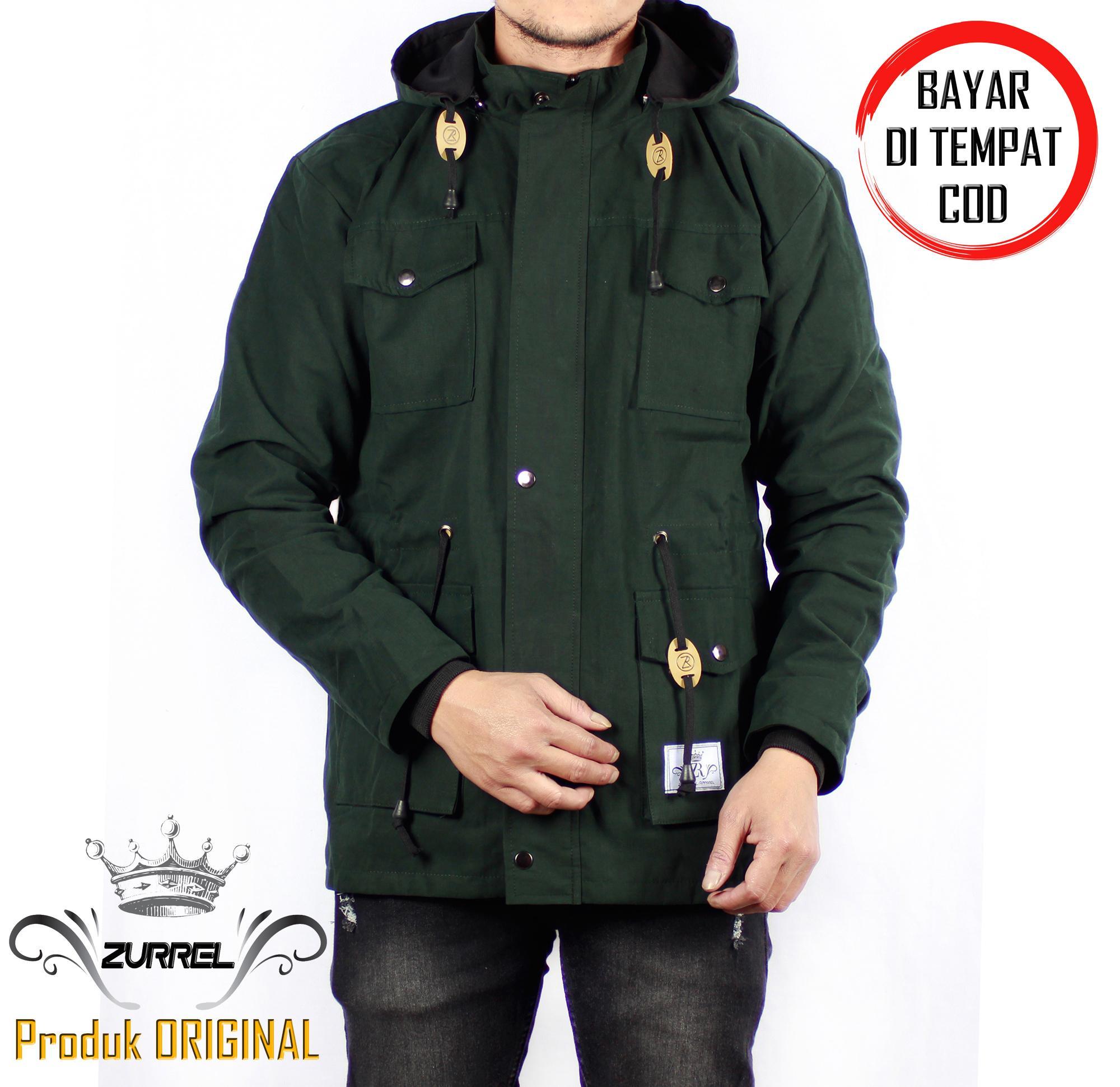 Jaket Parka Canvas Premium Zurrel Green  BAYAR DI TEMPAT COD  42f7d6fa6c