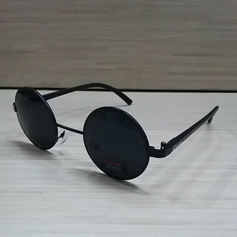 Korea Fashion Style - Kacamata Bulat - Fashion - Unisex - Full Hitam - Clasic Round Glasses By Renzana Acc.