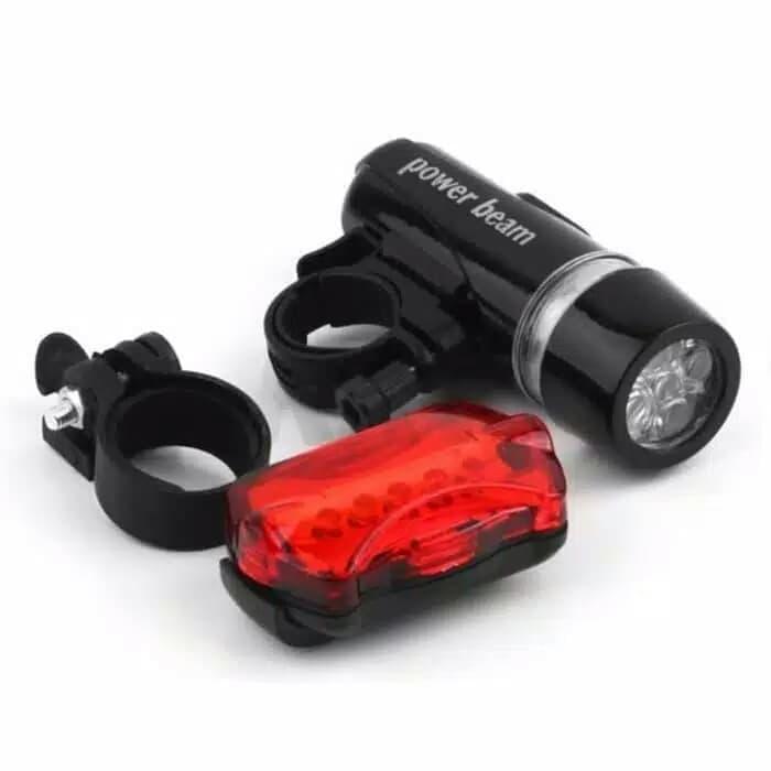 Lampu sepeda power beam depan + belakang
