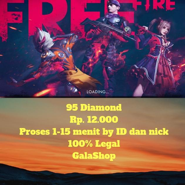 Diamond Free Fire - 95 Diamond