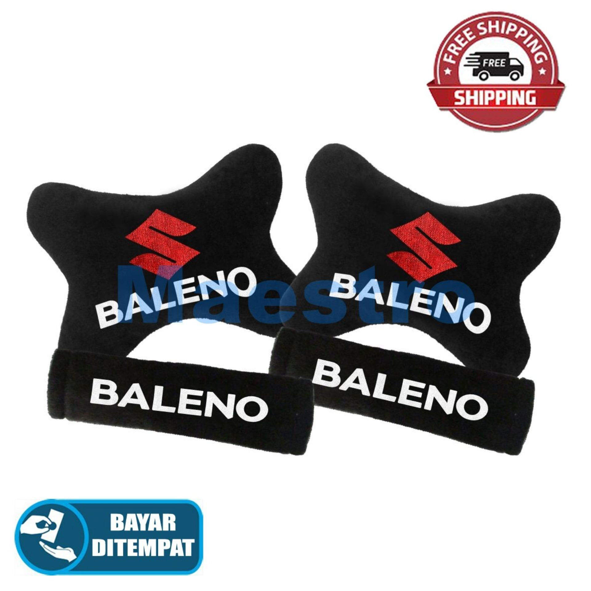 Aksesoris bantal leher jok mobil lucu unik Set 2in1 Suzuki Baleno