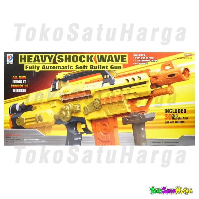 TSH Pistol Mainan Anak Heavy Shock Wave mirip nerf Gun otomatis Soft Bullet