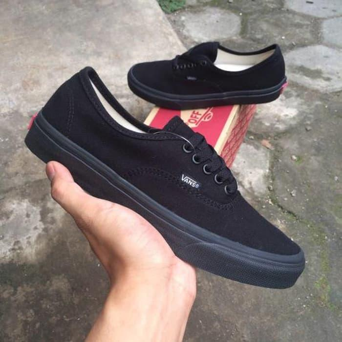 SEPATU VAN'S23_AUTHENTIC FULL BLACK HITAM POLOS WHITE PUTIH OLD SCOLL ERA SK8 PREMIUM BNIB ICC IFC DT