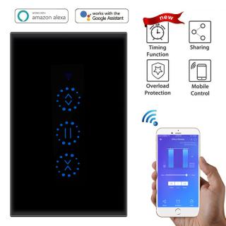 S_way Công Tắc Rèm Cửa Cảm Ứng Điện WiFi Tại Nhà Thông Minh 2200 W Điều Khiển Bằng Giọng Nói Ứng Dụng TUYA Bằng Alexa Echo Đối Với Rèm Giới Hạn Cơ Khí Phích Cắm Kiểu Mỹ thumbnail