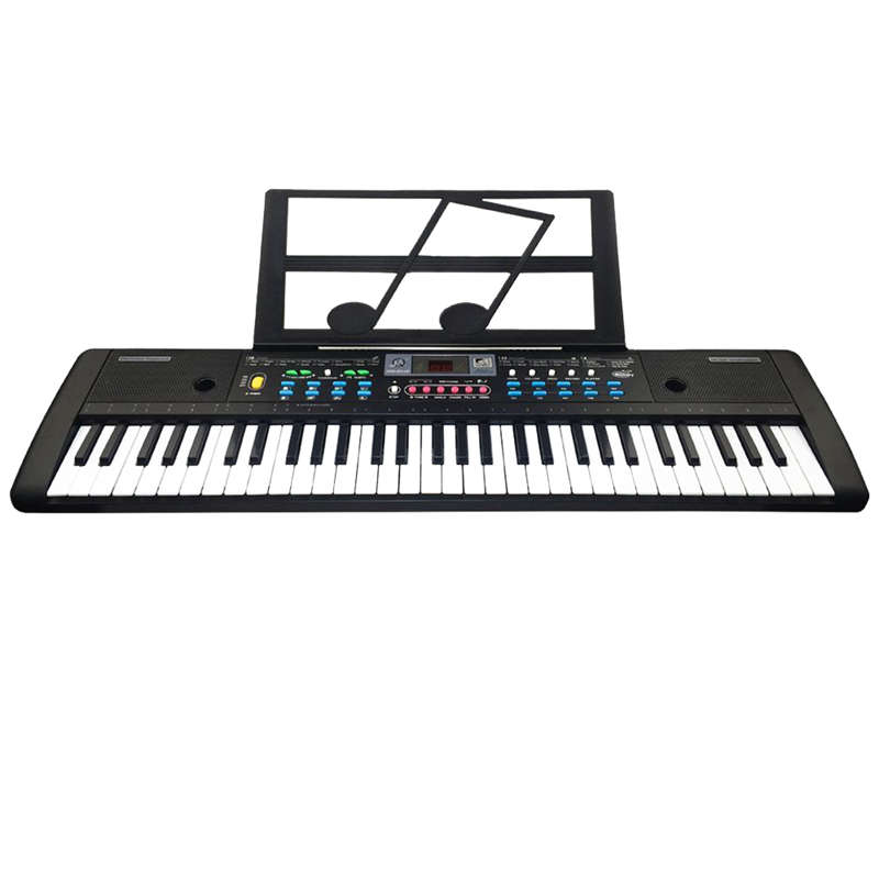 61 Keys Digital Electronic Keyboard And Microphone Electric Led Music,Eu Plus