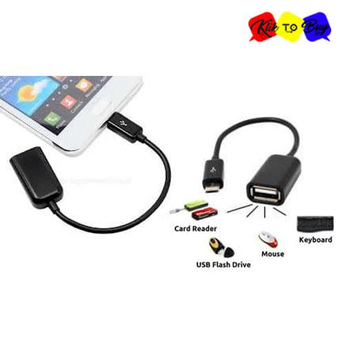 KTB OTG Cable Kabel Connect Kit for Android - Hitam