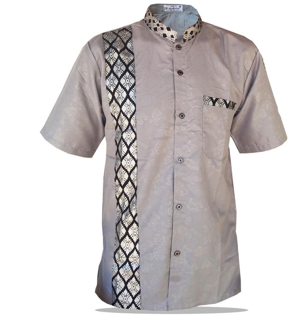 Kemeja koko Baju koko pria Baju koko muslim pria terbaru 9 Koko batik  Kemeja pendek Alkhalis