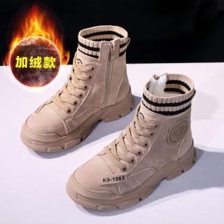 Bé Gái Martin Bốt 2020 Năm Mùa Đông Giày Cotton Trẻ Em Giày Bốt Ngắn Nổi Danh Trên Mạng Mịn Hơn Con Gái Cỡ Vừa lớn Ủng Trẻ Em thumbnail
