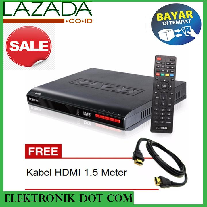 ICHIKO DVB-8000 DVB-T2 Set bTop Box ( Alat penerima Siaran TV digital) - FREE KABEL HDMI
