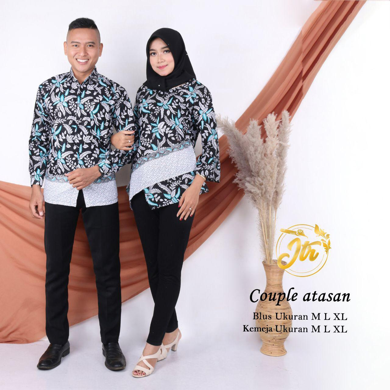 BAYAR DITEMPAT - Batik Couple / Couple Batik / Baju Muslim Wanita Terbaru 2019 / Batik Murah / Batik Sarimbit / Baju Batik Couple Modern / Batik Kondangan / Batik Keluarga / Batik Pekalongan – Batik Couple Atasan
