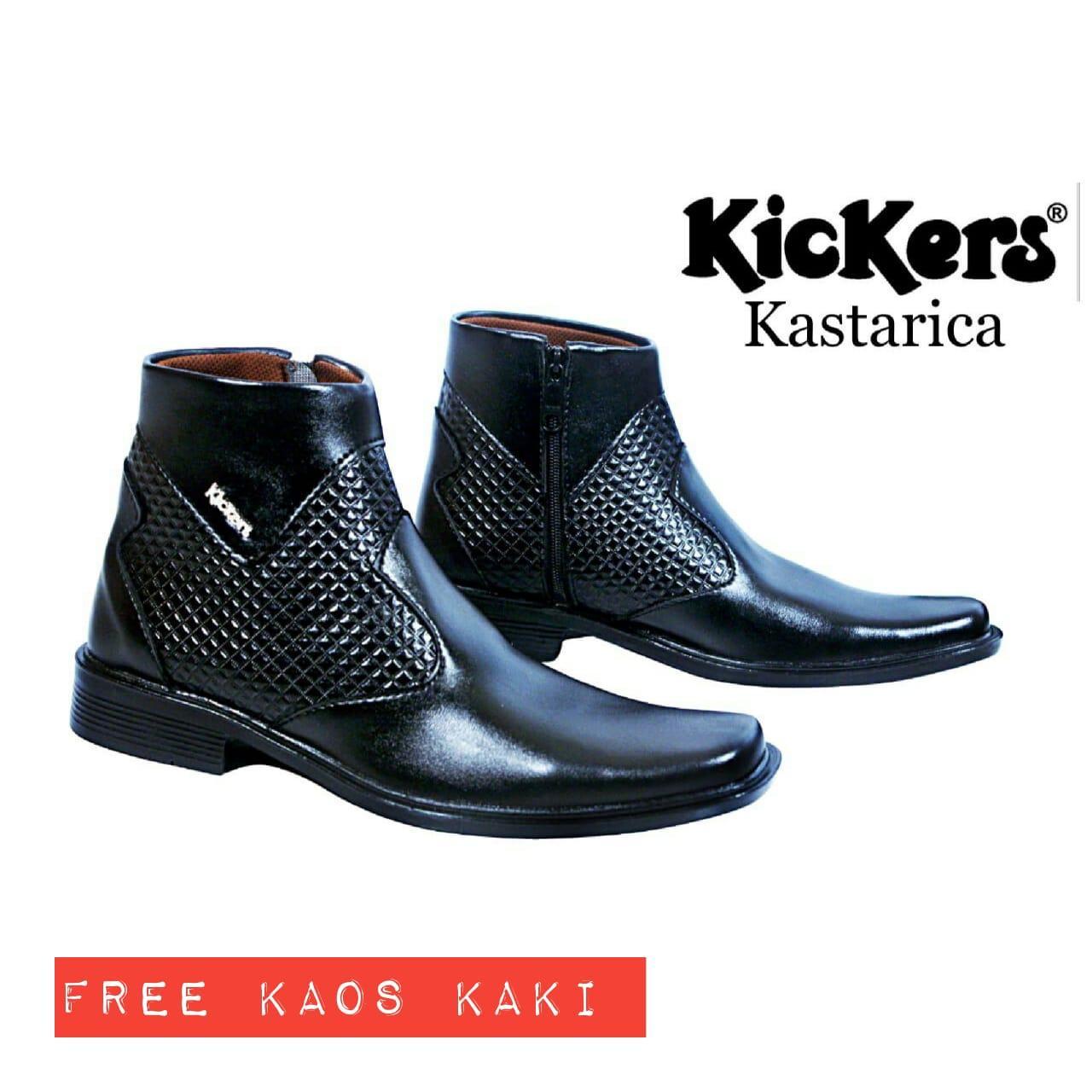 Sepatu Kickers Pantofel Kastarica Tinggi Resleting eadfac8a3a