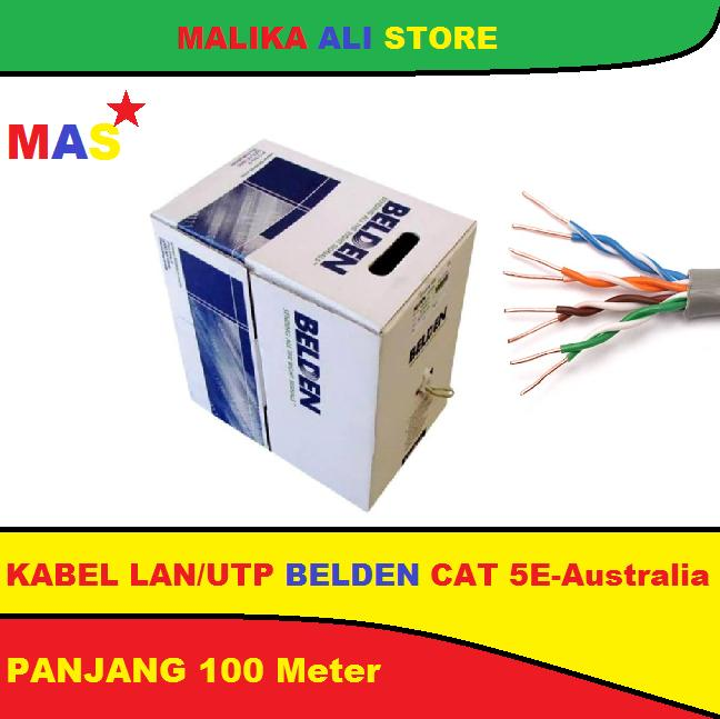 KABEL LAN/UTP RJ 45 Cat 5e BELDEN Australia - 100 Meter Anti Gagal