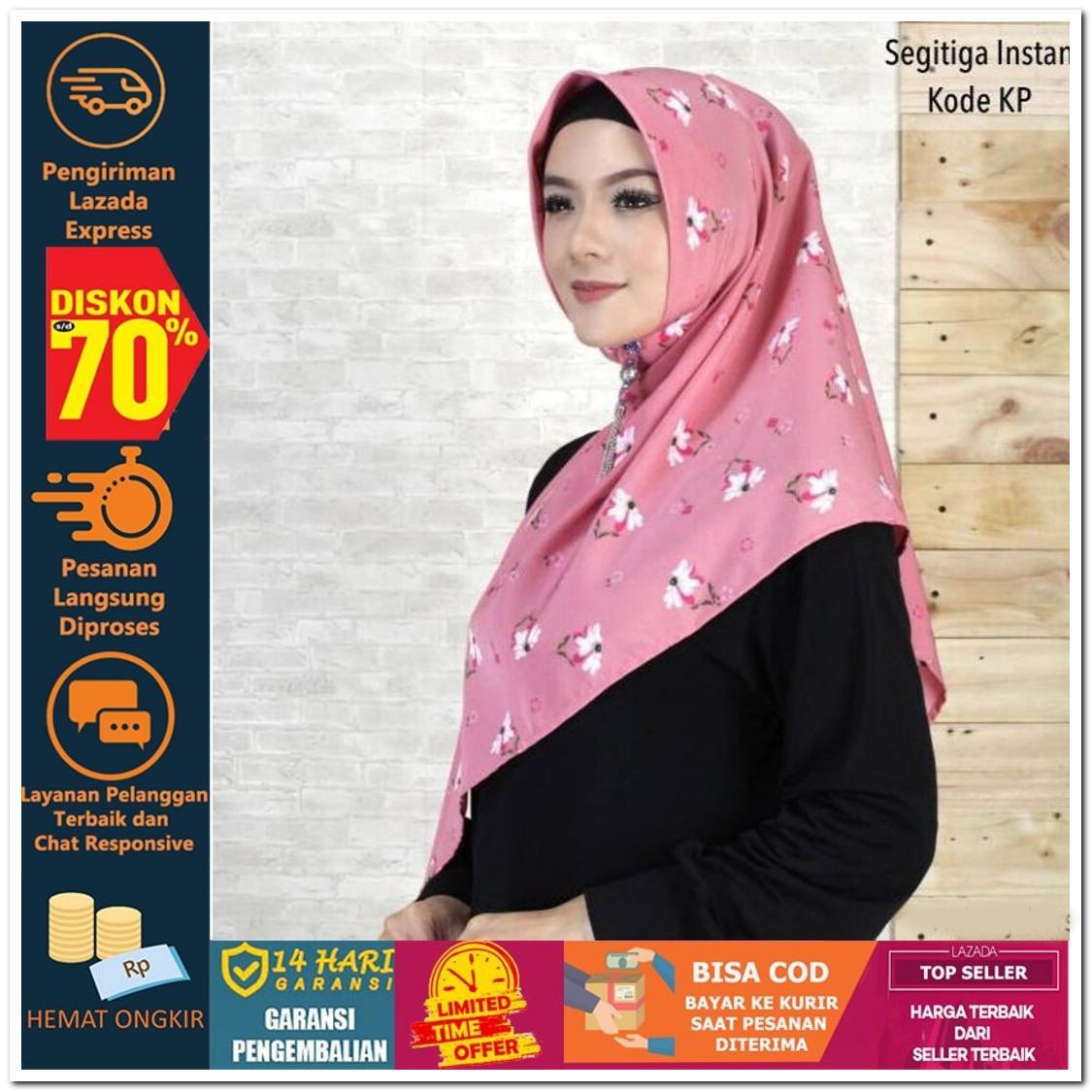 Totally Great Shop JILBAB SEGITIGA INSTAN KODE KN KP KL KM Hijab Jilbab Segi Empat Square Pashmina Kerudung Khimar Pesta Kondangan Nikahan Simple Pet Instan Instant Bergo Kekinian Trendy