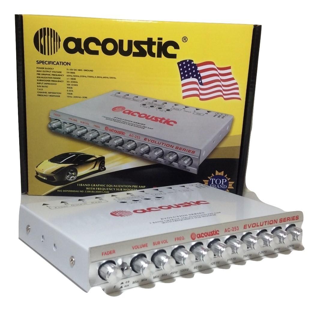 ACOUSTIC AC253 Parametric Equalizer /Priem 11Band Graphic With Frequensy Subwofer