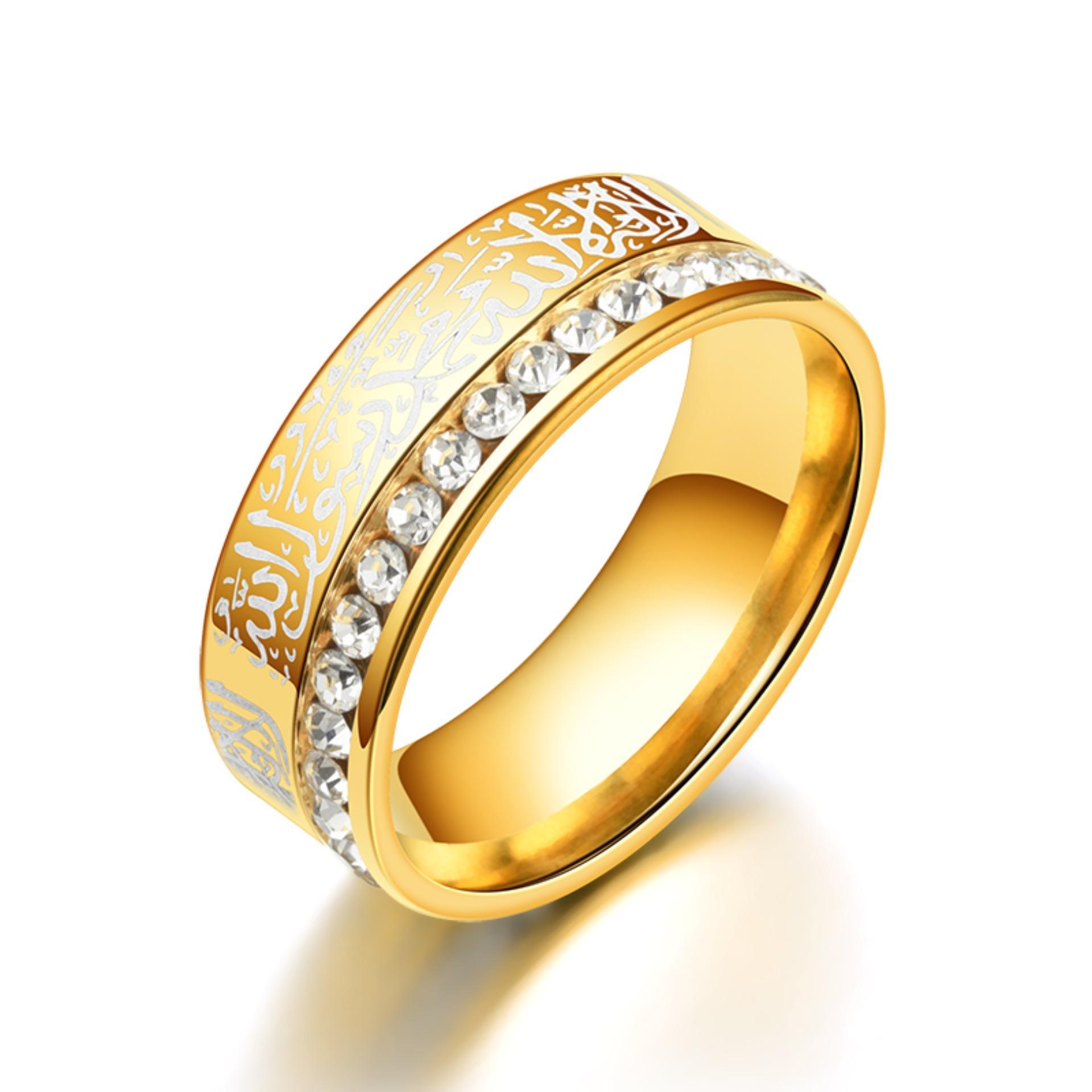 Lrc Cincin Tauhid Islam Muslim Lafadz Syahadat Ring Diamond By Toko Aksesoris Online.