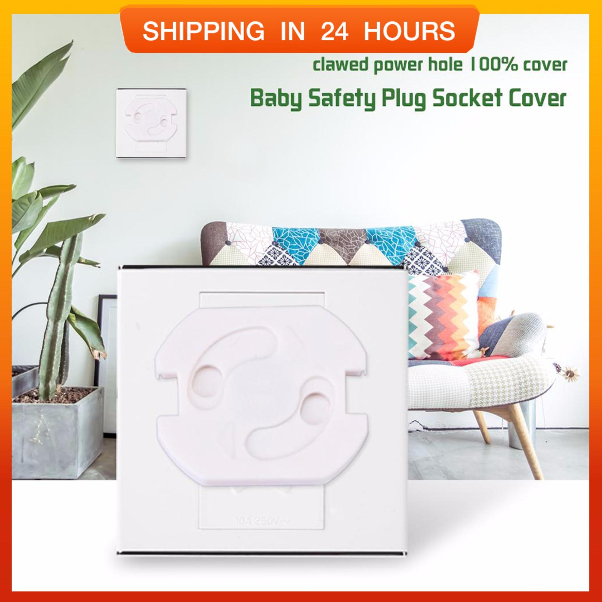 10 Pcs Stopkontak Listrik Eu Steker Diputar Soket Sarung Anti Elektrik Guncangan Bayi Keamanan Menjaga-Internasional By Globedealwin.