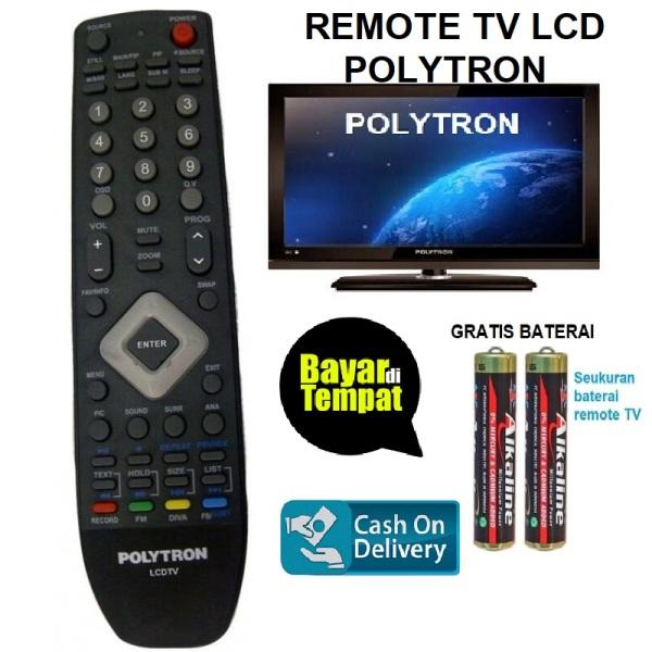 Remot Remote TV Polytron LCD LED Gratis Baterai/Batrai/ Warna Hitam_MSS27