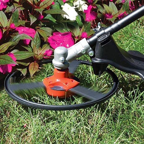 Wires Gas Trimmer Head Stainless Steel Garden Grass Brushcutter Attachment Lawn Mower Heads Accessories Replacement Parts Wires Gas Trimmer Head (Steel Blades)
