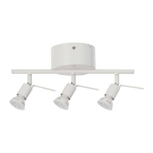 TROSS Trek plafon, 3 tempat lampu, putih