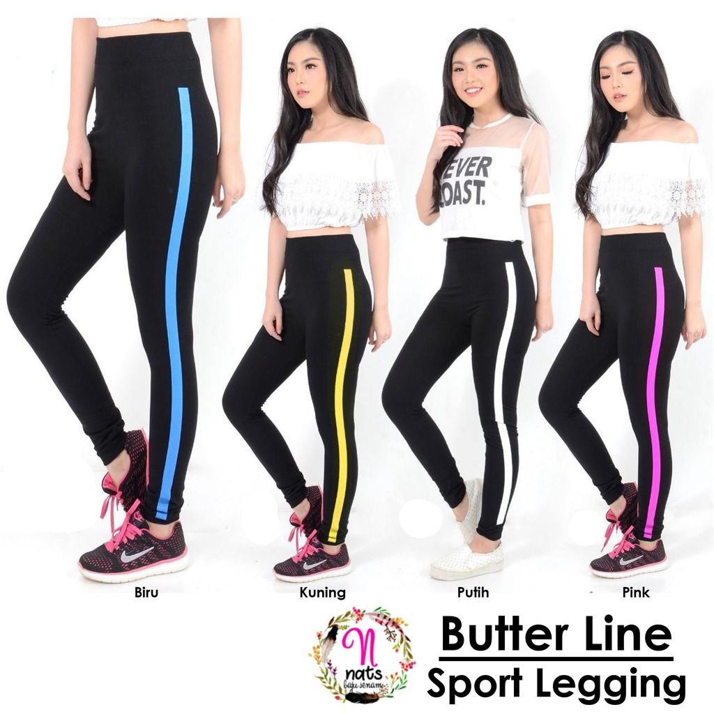 Legging Butter Line Celana Senam Murah Legging Zumba Legging Yoga Gym Fitness Aerobic Running Lazada Indonesia