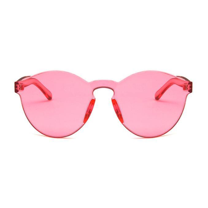 Kacamata Malam berbentuk hati kacamata hitam Warna Permen Jaring transparan .