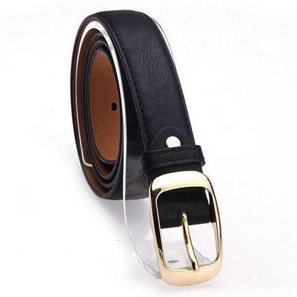 Vienna Linz Ikat Ban Pinggang Wanita Runy Belt Gesper Sabuk Celana Baju Rok Attractive Leather Casual Fashion Accessories s7907 - Black