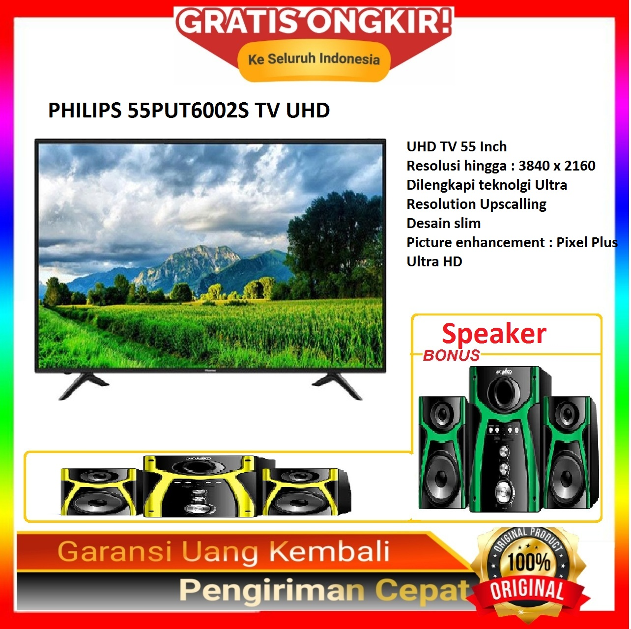 PHILIPS 55PUT6002S TV UHD