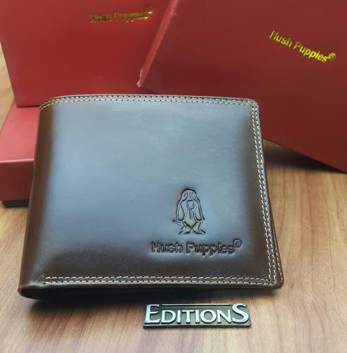 DOMPET KULIT ASLI BRANDED HUSH PUPPIES RRG-18 BROWN