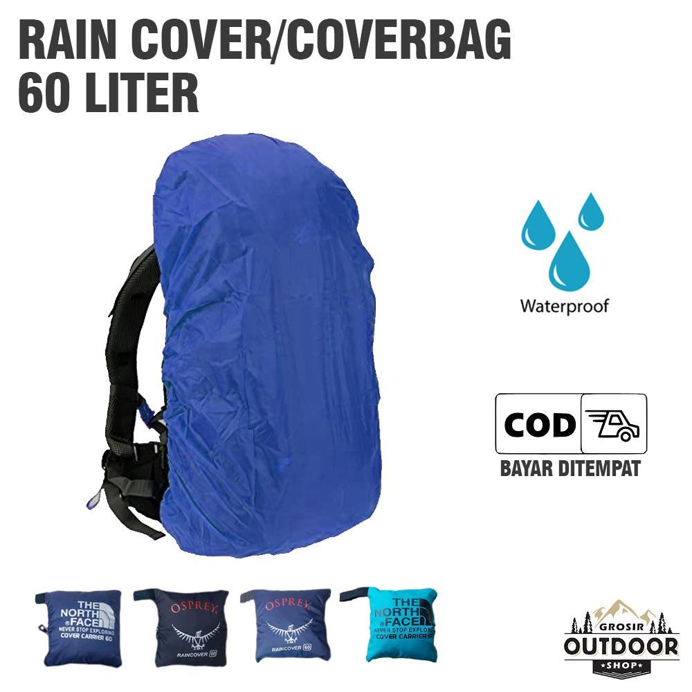 Cover Bag Waterproff 60 Liter (Bisa untuk 50-70 Liter) Coverbag - Raincover