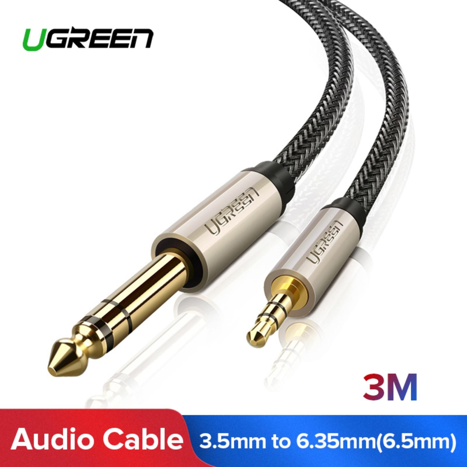 UGREEN 3.5mm Ke 6.35mm Audio Jack Kabel Adaptor (3 M)-International