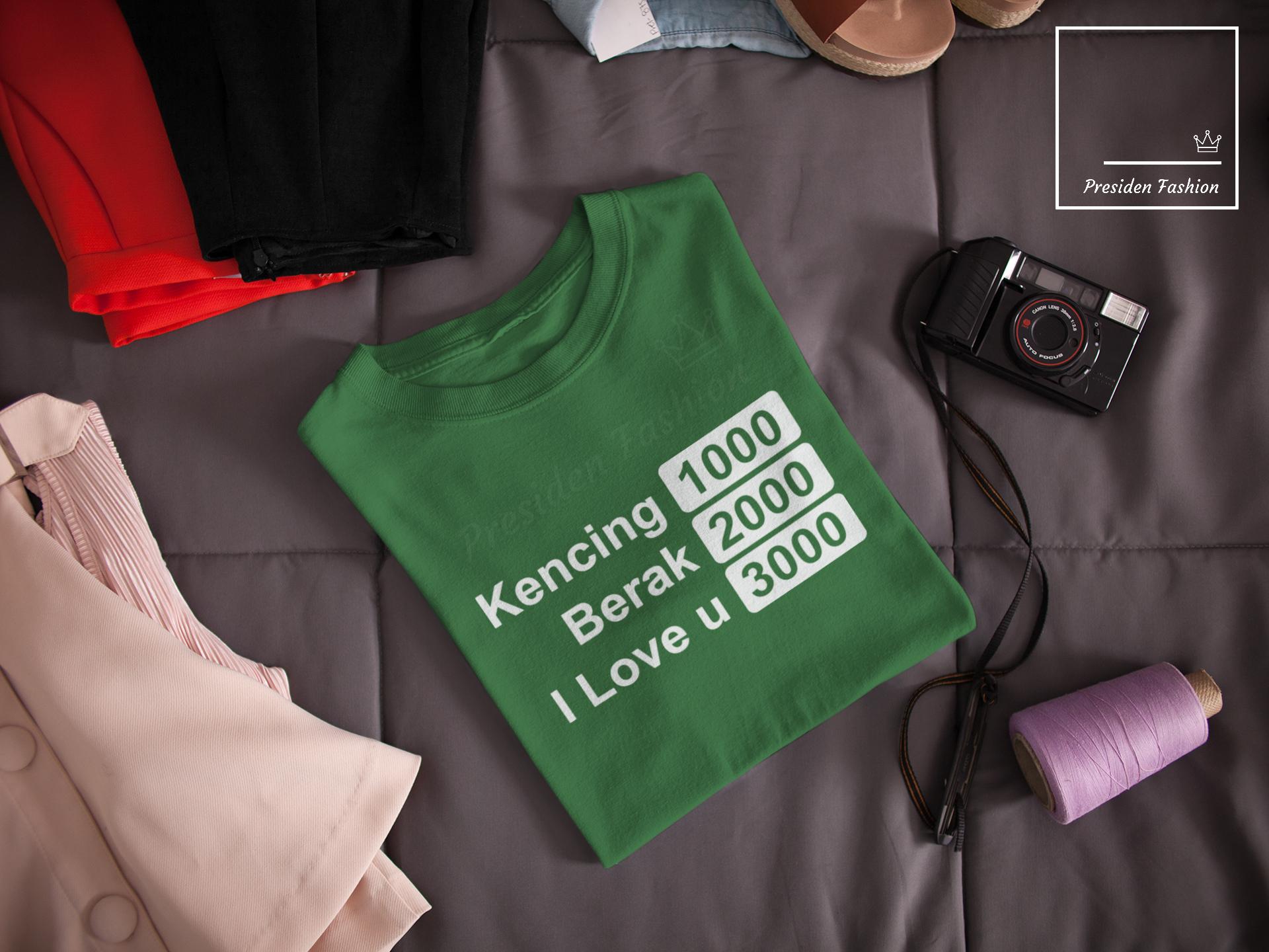 Presiden Fashion Kaos Distro T Shirt Fashion Soft Cotton Bed 30s Kaos Pria Baju Distro T Shirt Gambar Tulisan I Love U 3000 Terbaru Kata2