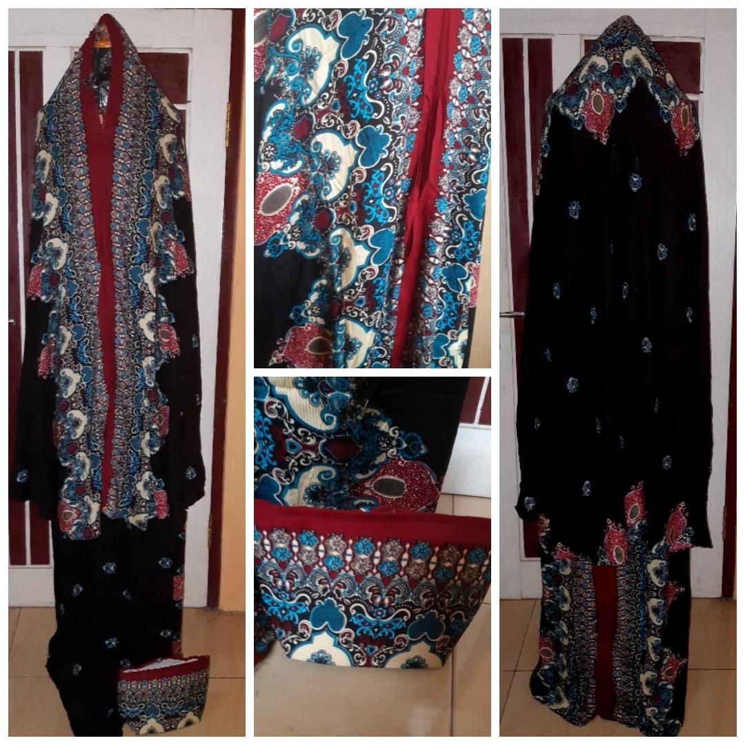 Mukena Bali motif Batik Semi Jumbo