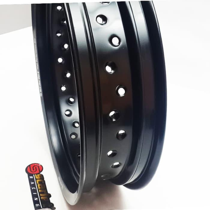 Velg Tapak Lebar Scarlet Ring 14 Uk350 Type Mt Black