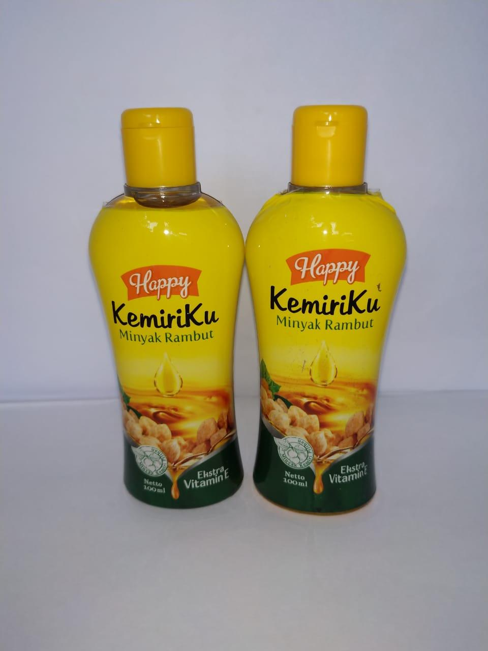 2 Pcs Minyak Rambut Kemiri Happy Kemiriku By Rendra & Reyhan.