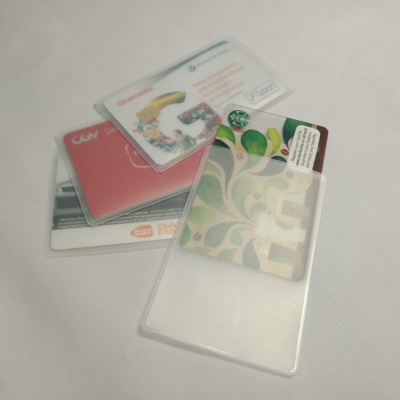 Minimall - 237  (15pcs for 3000) Sampul Cover Kartu plastik kartu kantong etoll sampul kartu atm kantong plastik atm buram