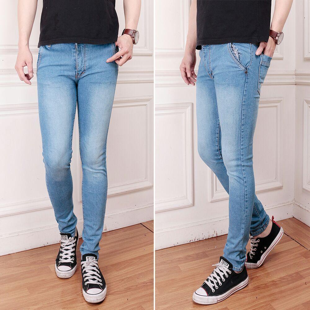 Celana Panjang Pria Celana Pensil Skinny Stretch/Ngaret Bahan Soft Jeans Celana Jeans Pria Terbaru