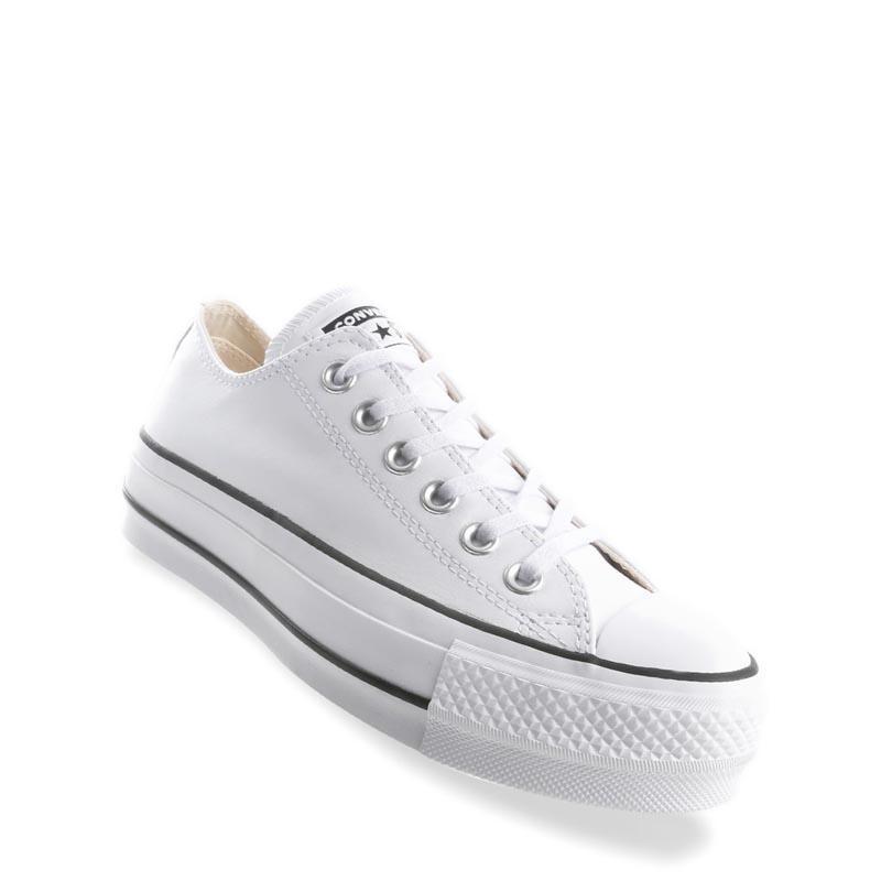 Converse Chuck Taylor All Star Lift Clean Ox Sepatu Wanita - Putih d283b67524