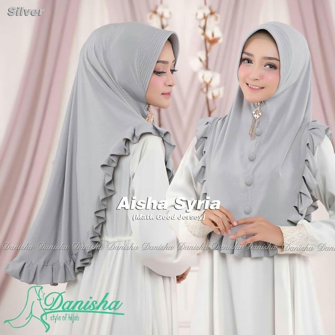 Aishaa Syria Series Abu khimar rempel / jilbab khimar syari / hijab jumbo / busana muslim